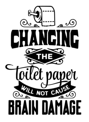 changing toilet paper