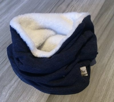 colsjaal jeans blauw