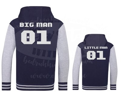 big man little man varsity zoodie